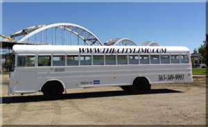 White Bus Exterior